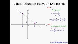 how to find linear equation between two points
