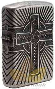 <b>Зажигалка</b> Zippo 29667 <b>Armor</b>™ <b>Celtic</b> Cross Antique Silver Plate ...