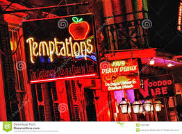 Where Is The Red Light District In New Orleans Bourbon Street New Orleans Adult Playground Editorial