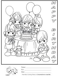 Birthday Coloring Pages Pdf Printable Coloring Page For Kids