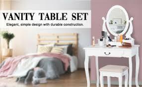 makeup table vanity dressing table set