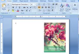 Blank Thank You Card Template Word Word Card Templates Magdalene Project Org