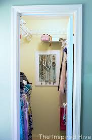 before a master bedroom closet gets an easy update with girly details and a few