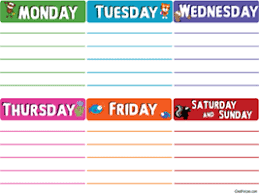 Days Of The Week Chart For Toddlers Days Of The Week Activities Worksheets Printables And