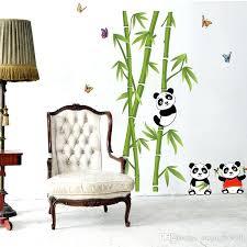 panda wall decal panda playing around bamboos wall art mural decal cute panda bamboo home decor panda wall  on panda wall art uk with panda wall decal cute panda bamboo wall decals for home decorative