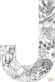 Small Picture Letter J with Animals coloring page Free Printable Coloring Pages