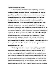 the old man and the sea analysis a level english marked by page 1 zoom in