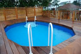 Above Ground Pools With Decks Installed Home Decor Pool Deck Kits