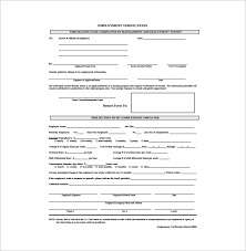 Free Employment Verification Form Template Sample Employment Authorization Form 100 Free Documents Download in PDF 11