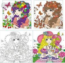 princess secret garden coloring book children relieve stress kill time graffiti painting drawing antistress coloring books in books from office