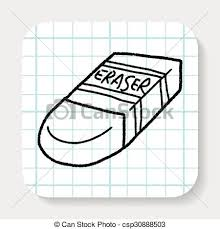 eraser clipart black and white. vector clipart of doodle eraser search illustration black and white