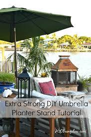 diy planter umbrella stand tutorial