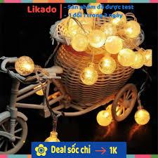 LIKADO] Dây đèn led trang trí đào quất tết / Đèn led bi bọt pha lê trang trí  nhà cửa , cafe, decỏ phông nền chụp ảnh tại Hà Nội
