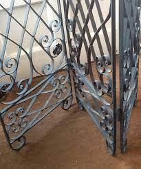 wrought iron screen antique garden