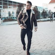 Shop urban outfitters boots for a curated selection of the best boots for men. Dark Brown Shearling Jacket With Dark Brown Suede Chelsea Boots Outfits For Men 10 Ideas Outfits Lookastic