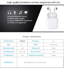 <b>Lanyasir i7s Tws Bluetooth</b> Earphones version 5.0 Mini Wireless ...