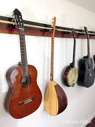 guitar rack aloha home solutions guitar wall rack guitar wall rack diy guitar rack
