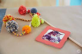 make your own diy pom pom cat wand thinkmakeshareblog com