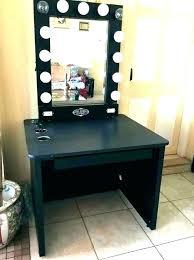 makeup vanity table with lights makeup vanity set with lights contemporary desk black mirror regard to