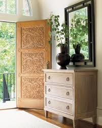 In a typical-size entry (not too small and not too large), rectangle,  runner, and oval rugs work bestoffering a soft landing spot, while hinting  at the ...