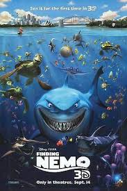 finding nemo 3d poster. Fine Poster Finding Nemo 3D September 14 Double Sided Original Movie Poster 27x40 Inches Inside 3d E