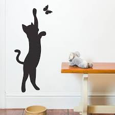 cat and erfly wall sticker