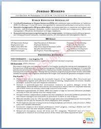 Hr Generalist Resume Template Sample Download Fresher Format India