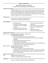 Medical Assistant Skills Resume Medical Assistant Resume Summary Samples  Writing Resume Sample