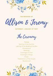 Wedding Program Designs Customize 66 Wedding Program Templates Online Canva
