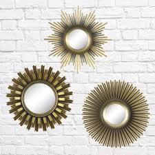 Better Homes & <b>Gardens 3</b>-<b>Piece</b> Round Sunburst Mirror Set in Gold ...