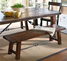 rustic kitchen table with bench. Rustic Dining Table With Bench Amazing Benchwright Pottery Barn AU Inside 24 Kitchen E