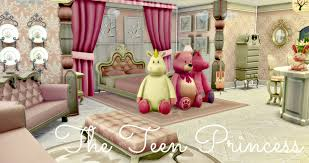 Build A Princess Bed Sims 4 Room Build The Teen Princess Youtube