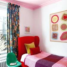 toddler bedroom with red bed frame and modern curtainschildrens curtains john lewis childrens curtain fabric