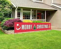 Merry Christmas Light Up Sign For Roof Merry Christmas Banner Large Xmas Sign Huge Xmas House Home Outdoor Party Decoration