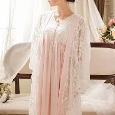 2019 <b>Vintage Robe Lace Nightgown</b> Set For Ladies Embroidery ...