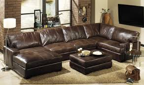 Wonderful Leather Sectional Sofa The Plough At Cadsden White