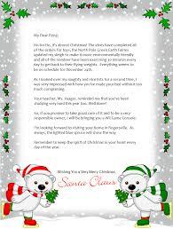 Free Printable Christmas Letters From Santa Santa Letter