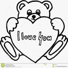 Small Picture Teddy Bear With Heart Coloring Pages Holding Cooloring