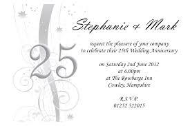 25 Year Wedding Anniversary Invitation Wording Collection Of