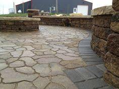 flagstone patio pavers menards