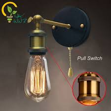 pull chain sconce. Delighful Pull Pull Chain Switch Loft Adjustable Industrial Metal Vintage Wall Light  Edison Retro Lamp Country Style In Sconce E