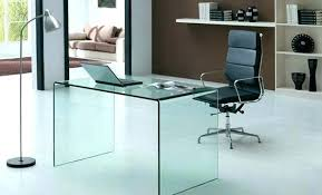 clear office desk. Clear Office Desk Glass Tempered Small Home Chair . E