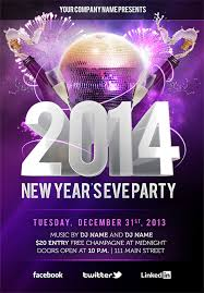 Free New Years Eve Psd Party Flyer Template Download On Behance