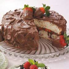 Chocolate Covered Strawberries Cake Recipe Taste Of Home