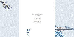 Altarfalz Hochzeitseinladungskarte Zünftig Bayrisch