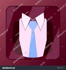 Light Burgundy Color Dark Burgundy Suit Icon Light Blue Stock Vector Royalty