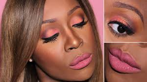 pink valentines day makeup for black women pink v day makeup on dark skin look 1 you
