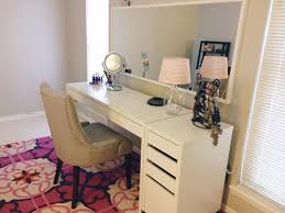 ikea micke desk and drawer as vanity dressing table idea interiors modern ideas design