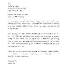 Counter Offer Letter Sample Acceptance From Current Employer