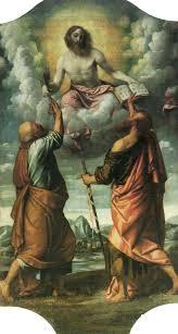 Gesù in gloria consegna le chiavi a san Pietro e il libro della dottrina a san  Paolo - Wikipedia